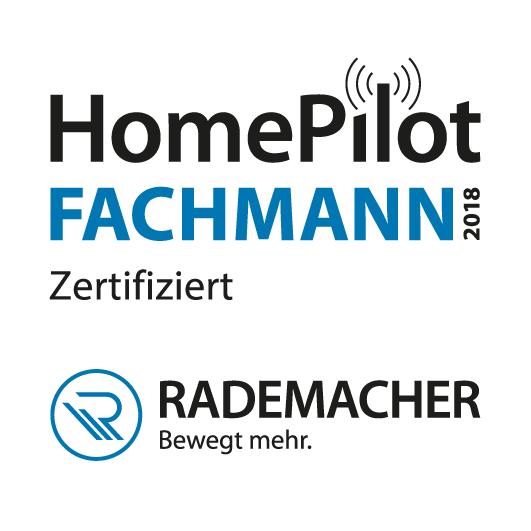 Zertifikat HomePilot-Fachmann Glaserei Nitsch 2018